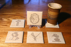 "4"" Etched Tiles"