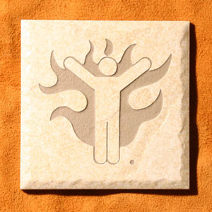 """Man On Fire""™ Etched Tile"