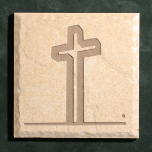 """The Empty Cross""™ Etched Tile"