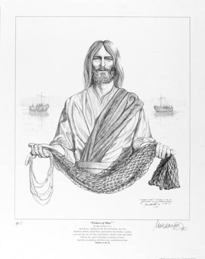 """Fisher Of Men""® Drawing Print"