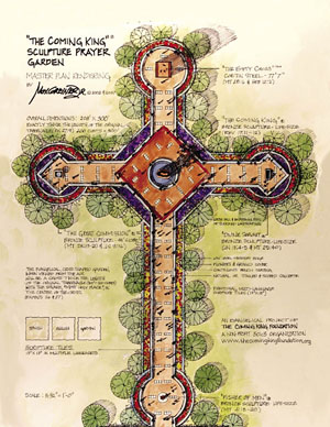 """The Coming King"" Sculpture Prayer Garden Master Plan"